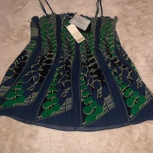 NWT Ted baker green and blue silk blouse 3